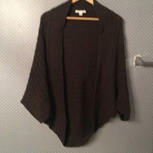 Banana Republic Shrug Sweater Cable Rib Knit Wool